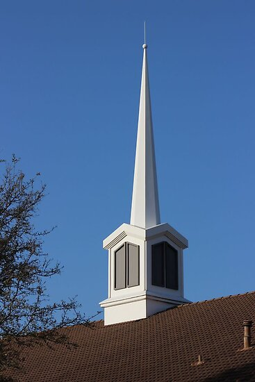 Steeple From Church in Sherman, Texas, USA by aprilann
