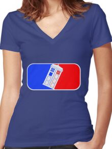 Tardis League (Doctor Who) Women's Fitted V-Neck T-Shirt