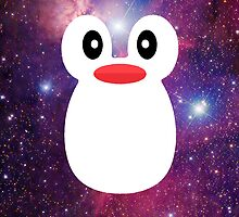 Penguin Galaxy Purple by rapplatt