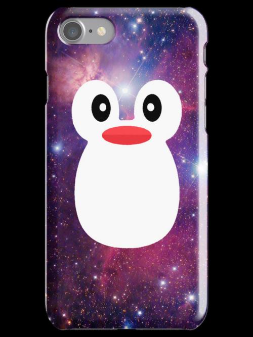 Penguin Galaxy Purple by rapplatt