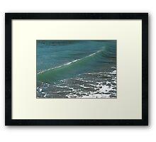 Crystal Clear Sea Wave Movement Framed Print