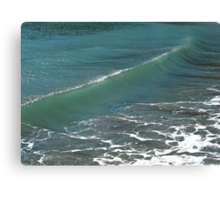 Crystal Clear Sea Wave Movement Canvas Print