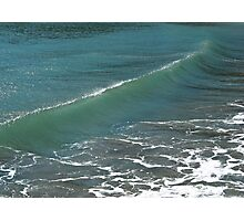Crystal Clear Sea Wave Movement Photographic Print