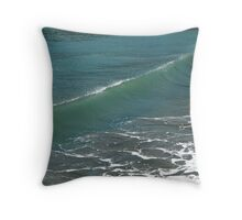 Crystal Clear Sea Wave Movement Throw Pillow