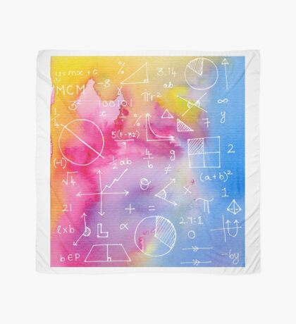 Math formulae (watercolor background) Scarf