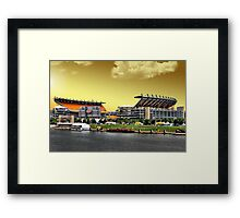 Heinz Field is Golden Framed Print