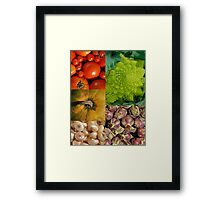 Five Vegetables Framed Print