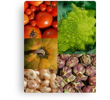 Five Vegetables Canvas Print