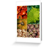 Five Vegetables Greeting Card