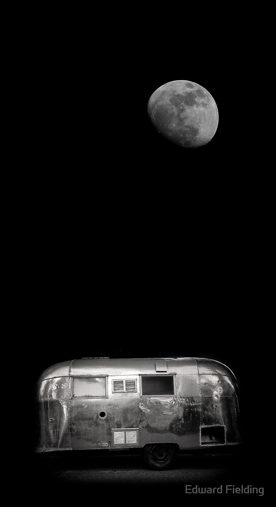 Moonrise over Airstream by Edward Fielding