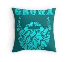 Growa Beard Throw Pillow