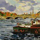 river boats, Paris  by Caroline  Hajjar Duggan