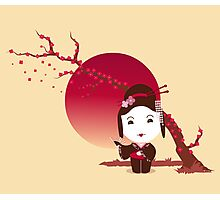 Cherry Blossom Girl Photographic Print