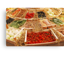 Fruit and Veg Display Canvas Print