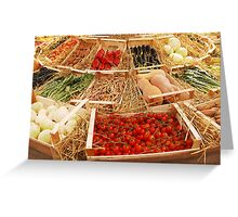 Fruit and Veg Display Greeting Card