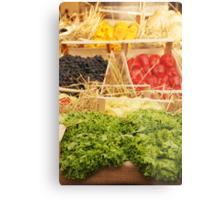 Fruit and Vegetable Display Metal Print