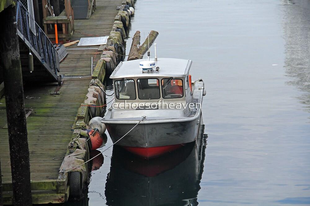 """""""Docked Boat"""" by Carter L. Shepard by echoesofheaven"""