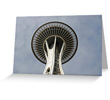 """Space Needle""  by Carter L. Shepard Greeting Card"