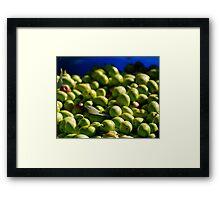 Green Olives in Natural Light Framed Print