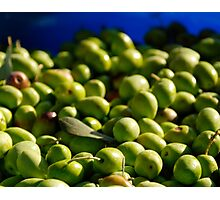 Green Olives in Natural Light Photographic Print
