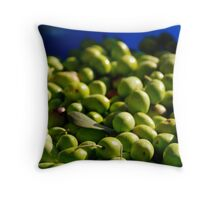 Green Olives in Natural Light Throw Pillow