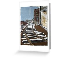 Brooklyn Train, Silkscreen  Greeting Card