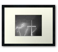 Good Friday in Black and White Framed Print