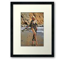 Sexy resort ware on location of CA coastline II Framed Print