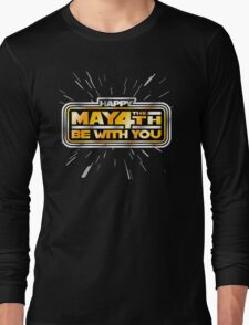 Happy May the 4th! (Yellow/Stars) Long Sleeve T-Shirt