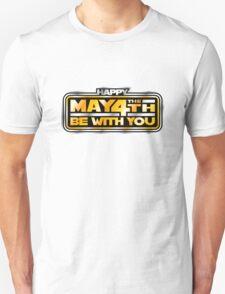 Happy May the 4th! (Yellow/Stars) Unisex T-Shirt