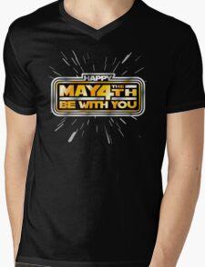Happy May the 4th! (Yellow/Stars) Mens V-Neck T-Shirt
