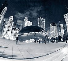 Night Time by the Bean by Greg Riegler