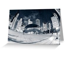 Night Time by the Bean Greeting Card