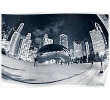 Night Time by the Bean Poster