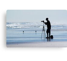 Photographing The Photographer Canvas Print