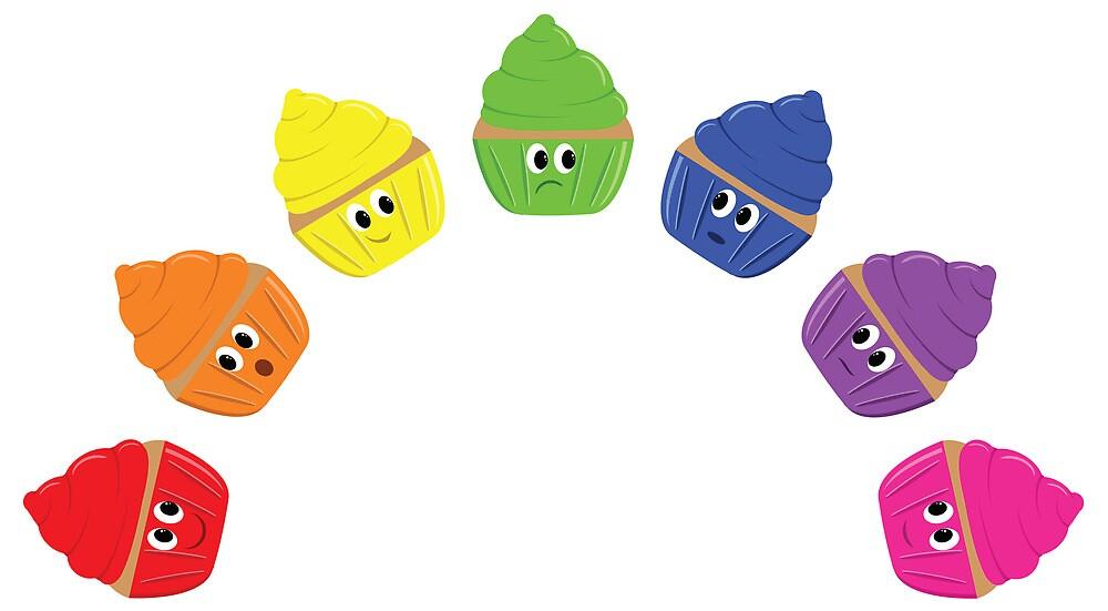 Rainbow Cupcakes! by EmilyListon4