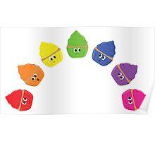 Rainbow Cupcakes! Poster