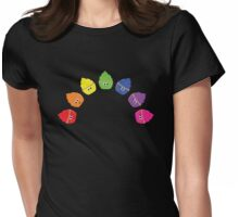 Rainbow Cupcakes! Womens Fitted T-Shirt