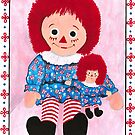 Raggedy Ann and baby by Barbara  Strand