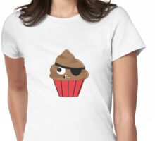 Pirate Cupcake Womens Fitted T-Shirt