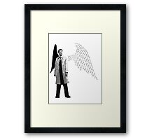 Castiel - the angel with a shotgun Framed Print