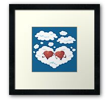 DREAMY HEARTS Framed Print