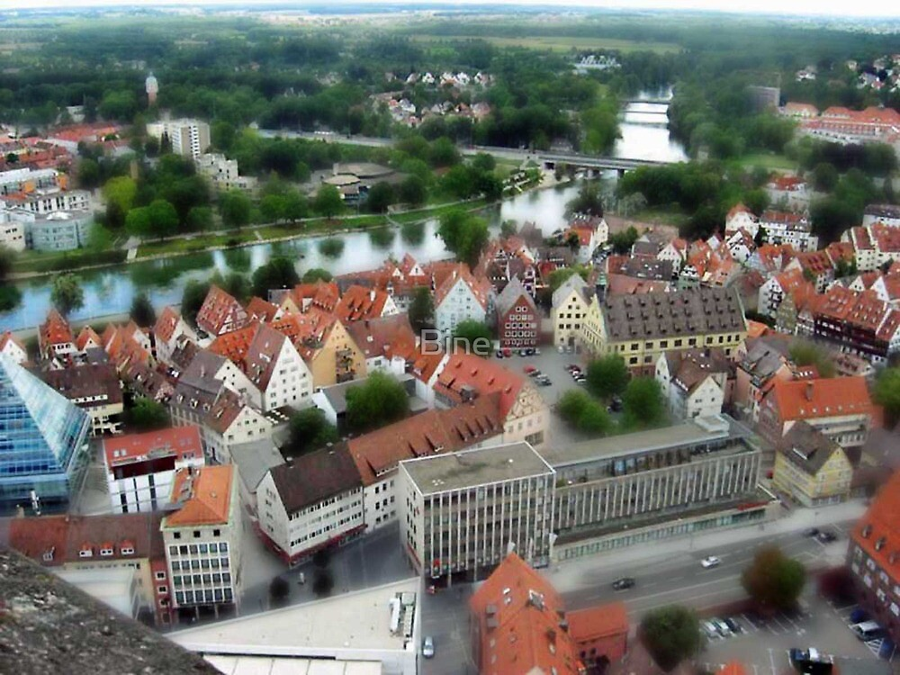 "City of Ulm as seen from the ""Ulmer Muenster"", Germany by Bine"