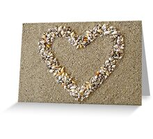 Heart from Shells Decoration Greeting Card