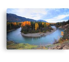 Autumn colors along Northern British Columbia river Canvas Print