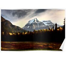 Mount Robson in autumn Poster