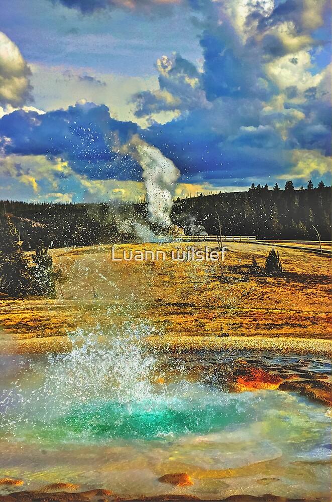 Yellowstone Geyser by Luann wilslef
