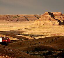 Castle Butte in Big Muddy Valley of Saskatchewan by pictureguy
