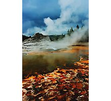 Castle Geyser in HDR Photographic Print