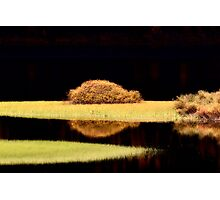 Water reflections in autumn Photographic Print